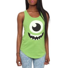 Disney Monsters, Inc. Mike Girls Tank Top | Hot To ($20.50).    I think I could make this for the family to wear