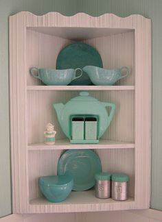vintage corner shelf! by artgoodieshome, via Flickr