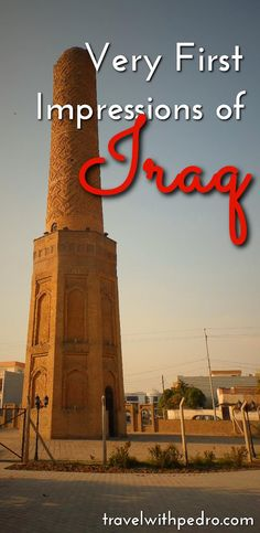 When you think you knew everything about a place like Iraq, you realise there's more than what you see in the news. So here are my very first impressions of Iraq.