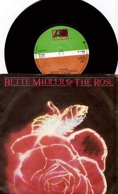 "BETTE MIDLER The Rose 1980 Uk Issue 7"" 45 rpm Vinyl Single Record Pop Rock 80s Music Film Soundtrack K11459  Free Shipping"