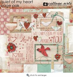 Quiet of My Heart Page Pak from Cottage Arts