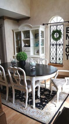 Annie sloan dining room dining table in paris grey and for Duck egg dining room ideas
