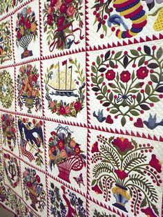 applique baltimore album quilt - from pattern by Sue Garman