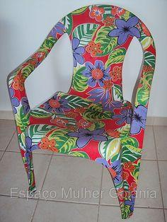 Cadeira de plástico Encapada - Pesquisa Google - Reciclagem - Adorei !!!