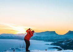 Snow Golf in Greenland.