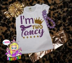 I'm two fancy shirt gold birthday shirt by AKidsDreamBoutique