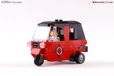 The Bajaj is a three-wheeled vehicle produced in India that is widely used in Jakarta. It serves as a popular public mode of transportation for short to intermediate distances with the passenger capacity of two persons. It also has the characteristic of being very loud and has the tendency to make sudden turns due to its lack of a functioning turn signal.