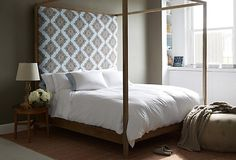 One Kings Lane - All About the Bed - Strugess Upholstered Bed, Blue