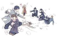 Shared by [°K Find images and videos about friends and psycho-pass on We Heart It - the app to get lost in what you love. Anime Chibi, Anime Manga, Anime Art, Kogami Shinya, Otaku, Anime Family, Snowball Fight, Noragami, Me Me Me Anime