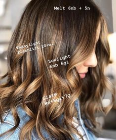 Since you guys liked my formula breakdown post so much the other day, I thought I'd do another! I love seeing other colorists… Hair Color And Cut, Haircut And Color, Redken Hair Color, Balayage Ombré, Babylights Blonde, Caramel Balayage, Balayage Hair Tutorial, Hair Color Formulas, Redken Color Formulas