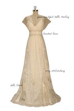 Edwardian style gown a la Downton Abbey www.MadamPaloozaEmporium.com www.facebook.com/MadamPalooza