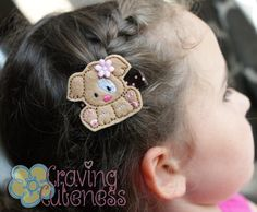 Adorable Puppy Hair Clip  Meet Miss Pippa by CravingCuteness