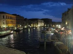 venice - the grande canal at night