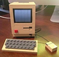 There's not much more geeky than a Mac AND Lego!  A Mac Classic with a card slot | 24 Unexpectedly Awesome Lego Creations