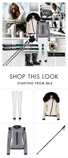 Ski Runway by stylepersonal on Polyvore featuring Maison Margiela, Moncler Grenoble, Fendi, Rossignol, Dlux, Harrods, skiholidays and skifashion
