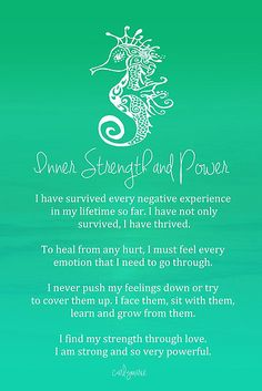 Affirmation - Inner Strength and Power by CarlyMarie. Mom has an inner strength that I haven't seen in any other woman I met. She has fell through many hard times, and remains happy and full of faith.
