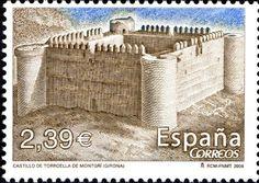 Sello: Castle of Torreolla de Montgri. Girona (España) (Castles) Mi:ES 4155,Yt:ES 3860,Edi:ES 4260