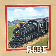 Oopsy Daisy - Vintage Ride Canvas Wall Art 14x14, Colleen Phelon Hall