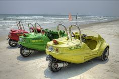 Dune Buggies on the beach...I want one!