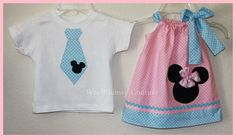 Custom Baby Minnie Mickey Color Theme Pink and by weewhimsycouture, $35.00