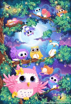 Done this year after we liked the outcome of the mini owl illustration I did for a another product. It's a bit. away from my normal color range but in. Owl Puzzle illustration for Schmidt Spiele Owl Illustration, Illustrations, Cute Owls Wallpaper, Elfen Fantasy, Owl Artwork, Whimsical Owl, Owl Cartoon, Owl Pictures, Beautiful Owl