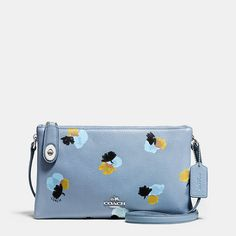 Crosby Crossbody in Floral Print Pebble Leather