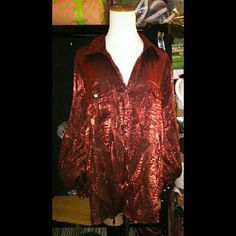 ELEMENTZ RED BLOUSE 3X GENTLY USED & WELL STORED PLEASE ASK ME TO DOUBLE CHECK BEFORE PURCHASING SIZE 3X COLOR DEEP RED BUNDLING IS AN OPTION I ANSWER ?'s 6:30AM - 8:30PM PACIFIC TIME WHEN I AM NOT DRIVING. I WILL ALWAYS TRY TO GET BACK TO YOU ASAP BUT AS WE ALL KNOW LIFE'S A LIL FUNNY SOMETIMES ;) QUESTIONS AFTER 8:30pm WILL BE ANSWERED NEXT DAY.  THANKS FOR YOUR INQUIRY & HOPE Y'ALL HAVE A GREAT DAY ELEMENTZ Tops Blouses