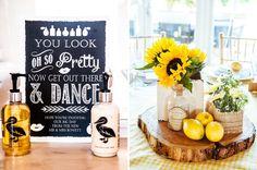 Quirky Rustic Lemon Yellow Wedding Dance Sign http://www.motifphoto.co.uk/