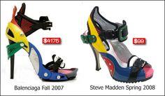 'LEGO' Shoes - Balenciaga - Fall/Winter 2007-2008 & 'LEGO' Shoes - Steve Madden Spring/Summer 2008
