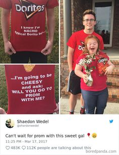 This promposal cute prom proposals, homecoming proposal, sweet stories, cute stories, cute Sweet Stories, Cute Stories, Cute Couple Stories, Cute Relationship Goals, Cute Relationships, Millie Bobby Brown, Cute Homecoming Proposals, Homecoming Signs, Cute Promposals