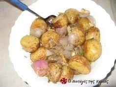 Μία πολύ νόστιμη πατατοσαλάτα με πατάτες ψημένες στο φούρνο και όχι βρασμένες. Το άρωμα και η γεύση είναι πραγματικά υπέροχο.