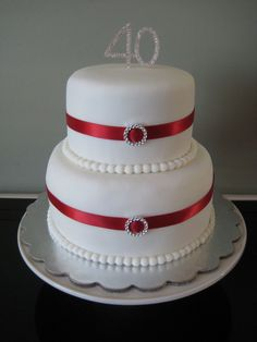 Ruby wedding anniversary cakes two tier - Google Search