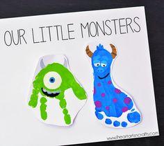 Monster Footprint Art - Monsters Inc Inspired