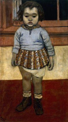 """Alice Neel """"Sheila"""" 1938 Oil on canvas, 81.3 x 45.7 cm 32 1/8 x 18 in"""