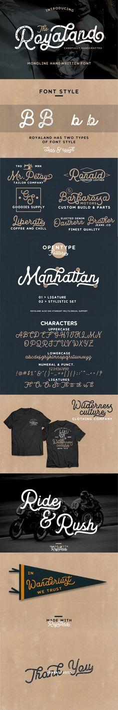 Royaland Vintage Font - Script Fonts  Download link: https://graphicriver.net/item/royaland-vintage-font/22132603?ref=KlitVogli