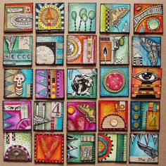 Colourful inchies by Phizzychick!, via Flickr