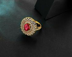 Ruby and diamond rings