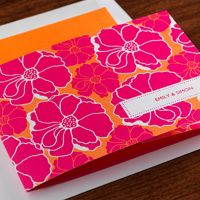 Hot tropical colors, giant poppies, and crisp white accents announce a wedding full of sunshine, fresh air, and flowers! This all-in-one wedding invitation is as brilliant and cheerful as the event itself, and you'll love saving money, time, and paper with the detachable RSVP card (put a postcard stamp on it and you're done!) http://www.einvite.com/product/detail/WSP-GKK-PENS.html/?utm_source=Social&utm_medium=Pinterest&utm_campaign=luah