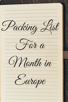 Heading to Europe? You need to read this extensive list of what I brought for my month trip around Europe including the things you don't need and the things you never thought you would need! Don't forget to re-pin it so you can easily find it before your tip!