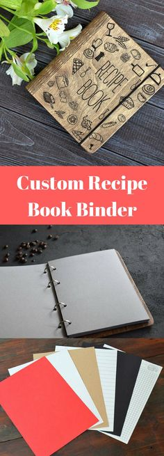 Custom Recipe Book Binder Bridal Shower Gift Mothers Day Personalized Gift From Daughter Wooden Notebook Gift for Bride Journal Cookbook Mother Gifts, Gifts For Mom, Fermentation Recipes, Gadgets, Book Binder, Bridal Shower Gifts, Whole 30 Recipes, Bride Gifts, Creative Gifts