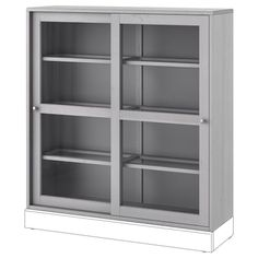 HAVSTA Glass-door cabinet with base, gray, clear glass, 47 - IKEA Glass Cabinet Doors, Sliding Glass Door, Sliding Doors, Glass Doors, Glass Bookcase, Form Design, Plastic Foil, Tempered Glass Shelves, Ikea Family