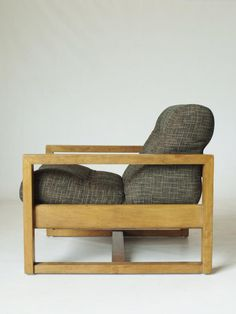Georges Van Rijk; Oak Lounge Chair for Beaufort, 1940s.