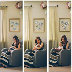 Photo shoot- late preg, one week born, one year