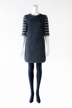 BORDERS at BALCONY #DENIM DRESS B-7 #2013AW #bordersatbalcony #border #dress Balcony, High Neck Dress, Denim, Collection, Dresses, Fashion, Terrace, Turtleneck Dress, Gowns
