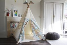 Play Teepee tent | Map Print | MIDI size