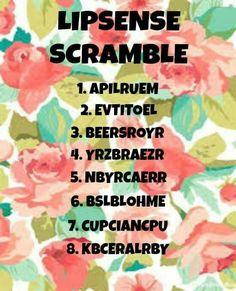 LipSense Scramble Lipsense Game, Lipsense Parties, Senegence Makeup, Senegence Products, Younique Party Games, Makeup For Moms, Magical Makeup, Kiss Proof, Facebook Party