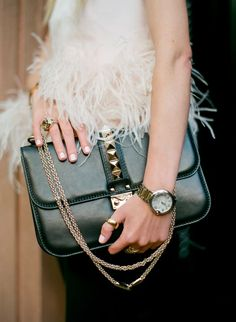 Valentino Rocklock Medium Shoulder Bag from @Saks Fifth Avenue. Photo by Sonya Yu for @PayPal. #paypalit