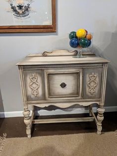 Painted Furniture Buffet/ Sideboard. Shabby Chic #ad #paintedfurniture