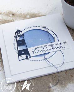 card nautical marine lighthouse Has Nautical Marine, Nautical Theme, Hobbies For Men, Hobbies And Crafts, Graduation Invitations, Wedding Invitations, Instagram Advertising, Nautical Cards, Karten Diy