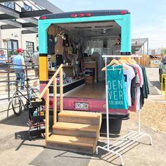 Truck Store, Camper Store, Shop Truck, Mobile Boutique, A Boutique, Mobile Fashion Truck, Mobile Shop Design, Mobile Business, Vans Shop